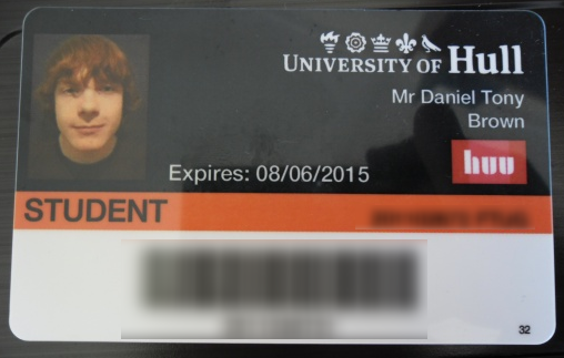 Univeristy of Hull ID Card