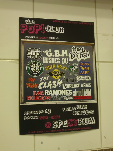 Spectrum Pop Club Punk Night