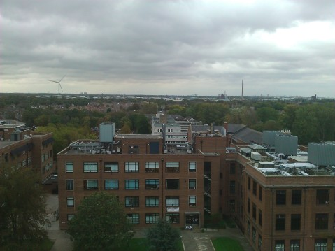 View of Chemistry Building from Brynmor Jones Library