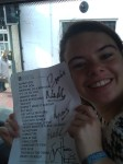 Jess With The Signed Set List