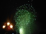 Bright Green Fireworks