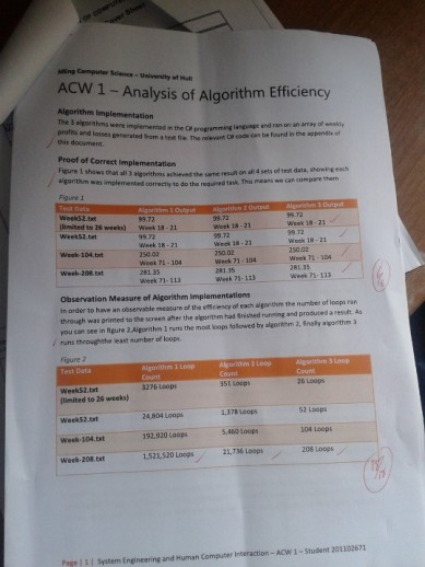 Algorithm Analysis Coursework