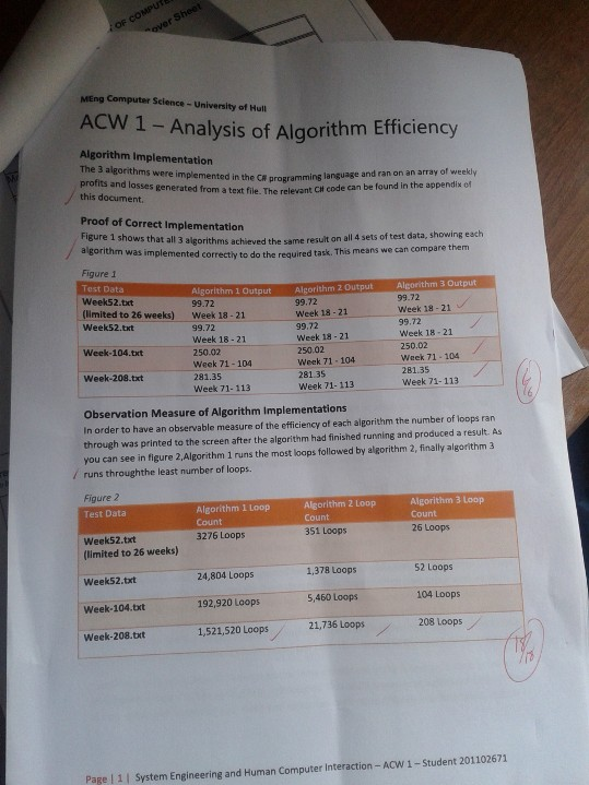 Algorithm Analysis Coursework