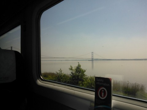 The Humber Bridge from the Train