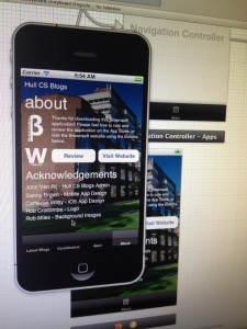 Hull CS Blogs for iPhone by Brownsoft and Wilby Software - About Page