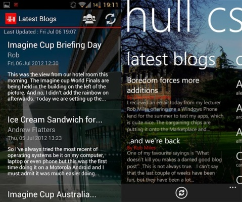 Windows Phone and Android App Comparison - Latest Blogs