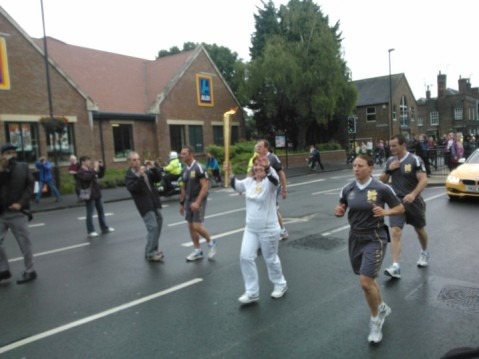 The Olympic Torch - Dunstable - Sarah
