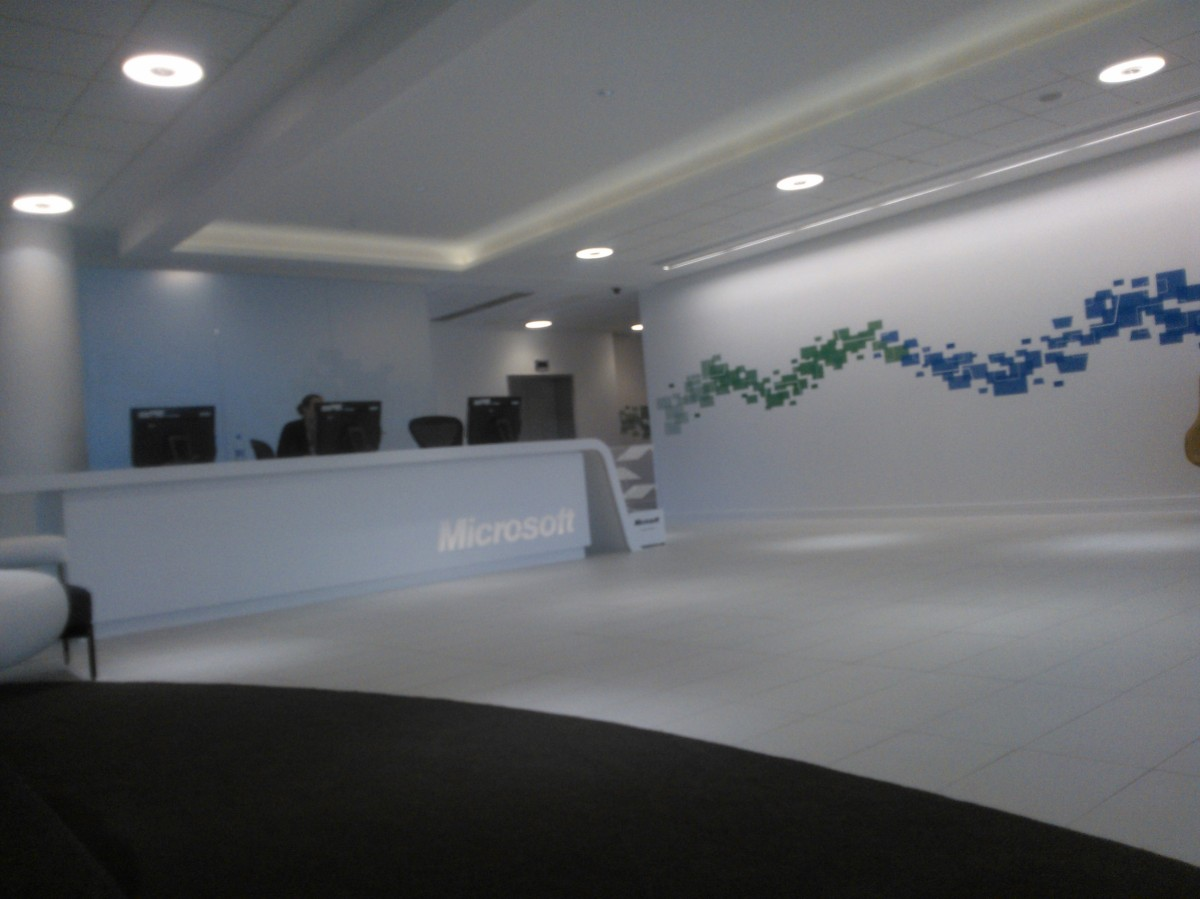 Microsoft Reading Building 3 Reception Desk