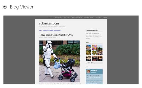 Hull CS Blogs for Windows 8 - Blog Viewer