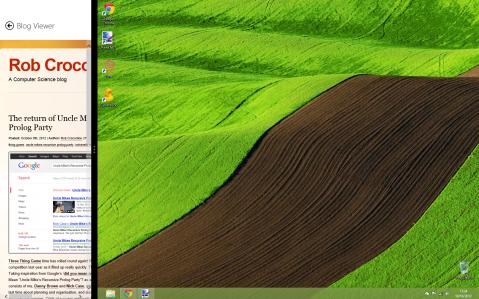 Hull CS Blogs for Windows 8 - Split View