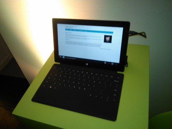 DanTonyBrown.com on a Microsoft Surface