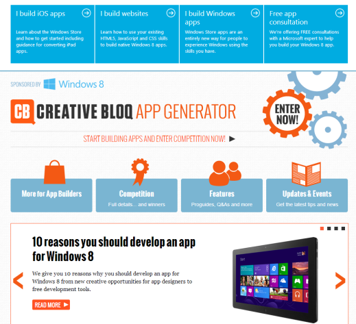 Creative Bloq App Generator Website