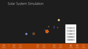 Line mode shows the planets as polygons
