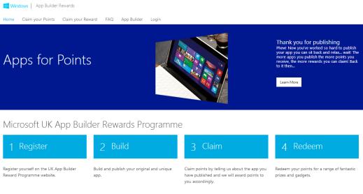 App Builder Rewards Website