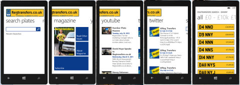 Regtransfers - Windows Phone 8 App