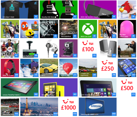 There are a multitude of fantastic rewards available!
