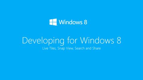 Developing For Windows 8 Presentation Title Slide