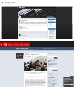 Hull Computer Science Blogs for Windows 8 - Blog Viewer Comparison