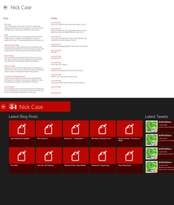 Hull Computer Science Blogs for Windows 8 - Contributor Viewer Comparison