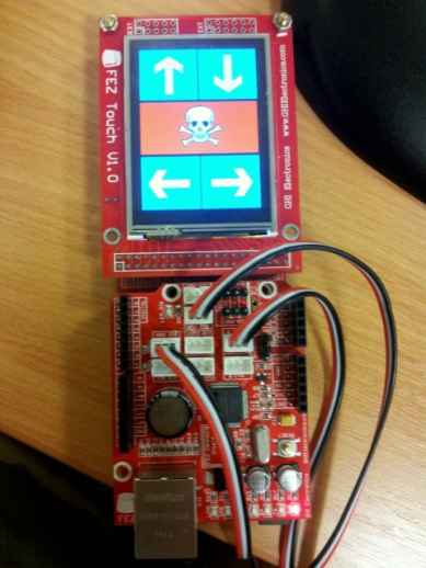 My .NET Micro framework IR Controller with LCD Touch Screen