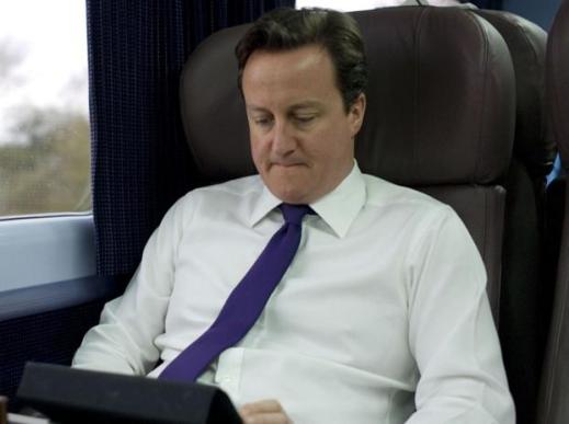 David Cameron on his iPad - http://www.londonlovesbusiness.com/business-news/politics/revealed-135-mps-snap-up-ipads-on-expenses/4030.article