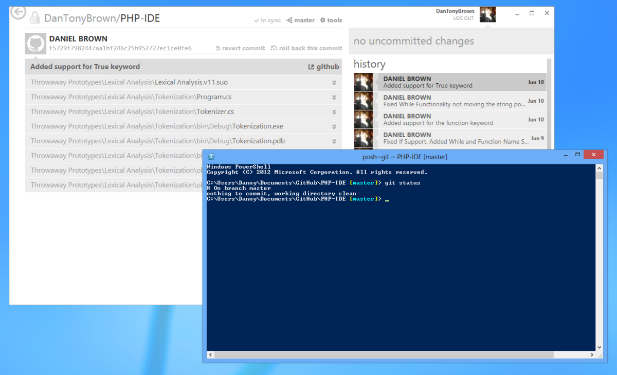 Github for Windows and the Powershell Command Prompt for Git