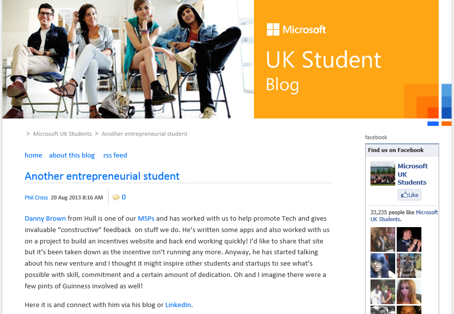 Microsoft UK Students Blog