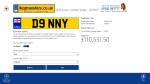 You can choose optional extras for your plate, such as flags and borders, before purchasing