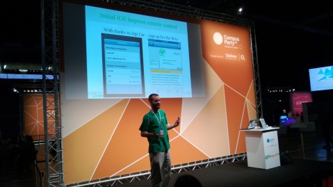 Michael Meeks talking about the recent addition of an iOS remote for LibreOffice Impress at Campus Party: Europe