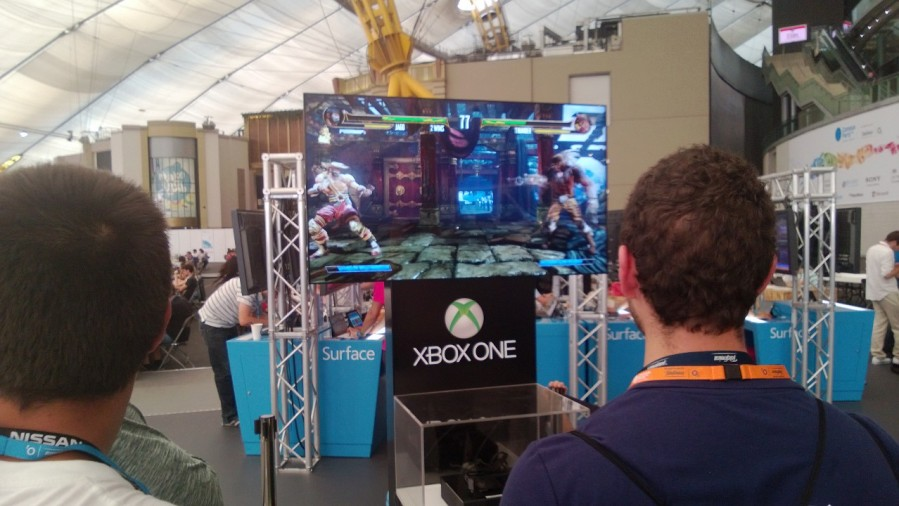 At the Microsoft Stand we had one of the first chances in Europe to play on a real XBOX ONE