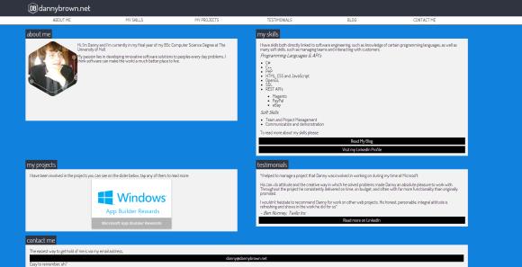 DannyBrown.net Desktop View
