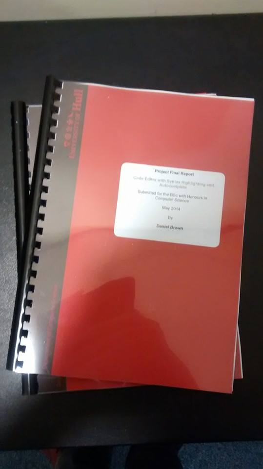 My dissertation printed and bound