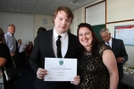My mum and I with my award