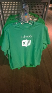 I simply excel t-shirt at the Microsoft Employee Store