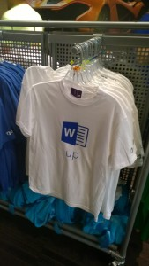 Word up t-shirt at the Microsoft Employee Store