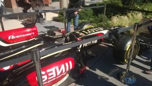 F1 Car sponsored by Microsoft Dynamics on the Microsoft Campus