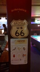 Route 66 Sign in the UoW College Pub