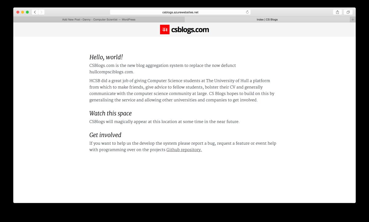 CSBlogs.com Homepage