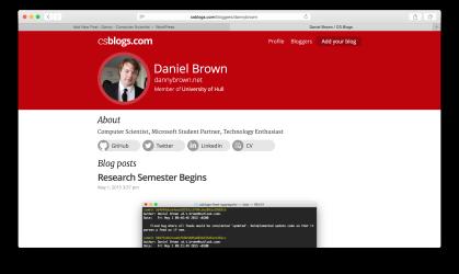 CSBlogs Profile - Desktop