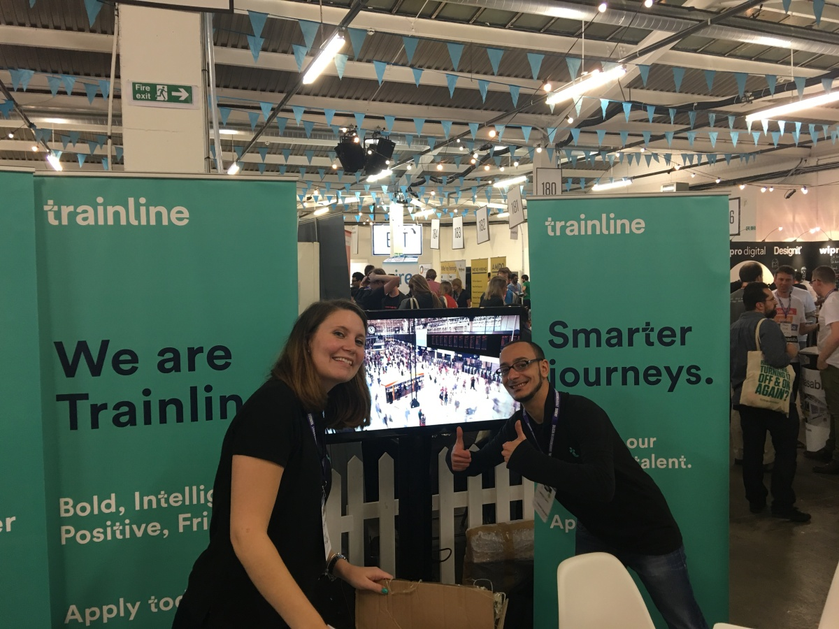 Some of the Trainline team at Silicon Milkroundabout