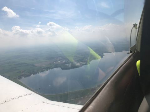 Grafham Water from the air