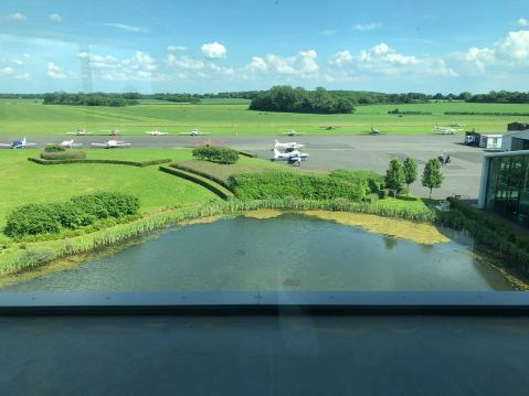 View of G-BFWB from Turweston Tower