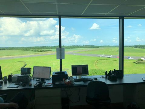 View of the runway from Turweston Tower